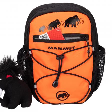 Mammut First Zip Tagesrucksack für Kinder 4 L - Safety Orange-Black
