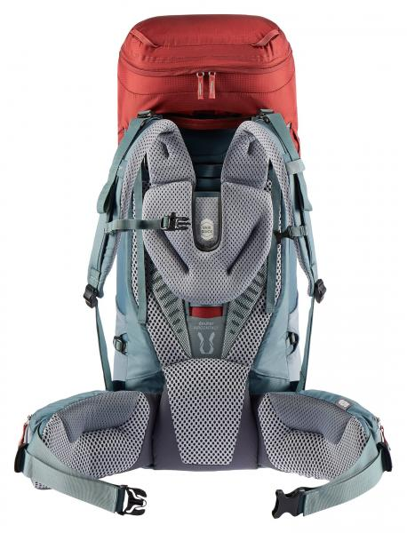 Deuter Aircontact 45 + 10 Trekking Backpack - lava-teal