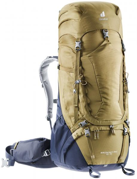 Deuter Aircontact PRO 60 + 15 Trekking Backpack - clay-navy