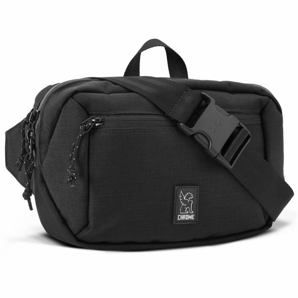 Chrome Ziptop Waistpack black